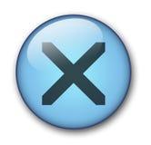 水色按钮万维网 免版税图库摄影