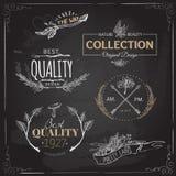 套葡萄酒和现代农厂商标标记并且设计 免版税库存图片