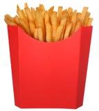 τηγανιτές πατάτες γρήγορου φαγητού χαρτοκιβωτίων Στοκ φωτογραφία με δικαίωμα ελεύθερης χρήσης