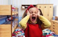 女孩尖叫的一点 免版税图库摄影