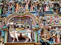 装饰印度寺庙 免版税库存照片