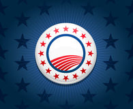 избрание кампании кнопки предпосылки Стоковая Фотография