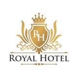 Πρότυπο λογότυπων ξενοδοχείων Στοκ Εικόνες