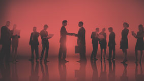 商人纽约室外会议概念 免版税库存图片