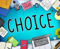 Εναλλακτική έννοια απόφασης ευκαιρίας πιθανότητας επιλογής Στοκ φωτογραφία με δικαίωμα ελεύθερης χρήσης