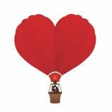 气球爱 免版税库存照片