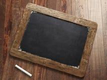 空白的老黑板 免版税库存图片