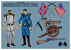 美国内战集合 免版税库存图片
