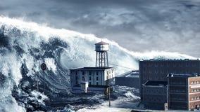 海啸 库存图片