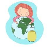 在旅行世界范围内 免版税库存照片
