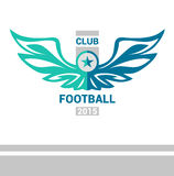 传染媒介商标模板足球橄榄球队 翼 免版税库存图片