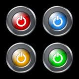 сила кнопок Стоковое Изображение RF