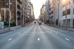 城市街道在布鲁塞尔 免版税库存图片