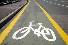 循环运输路线符号白色 免版税图库摄影