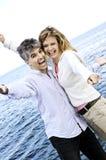 无忧无虑的夫妇成熟 免版税库存图片