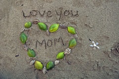 爱您妈妈 免版税库存图片