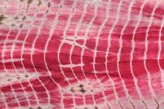 红色,白色和桃红色领带抽象背景-洗染布料 库存照片