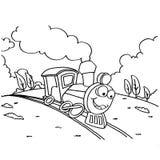 火车儿童传染媒介的着色图片 库存照片