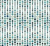 在白色背景的无缝的样式 有波浪的形状 包括几何元素 元素有圆形 免版税库存照片