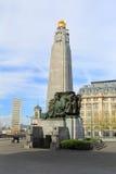 Μνημείο στη δόξα του βελγικού πεζικού στον παγκόσμιο πόλεμο Στοκ Εικόνες
