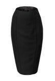 空的黑裙子铅笔 库存图片
