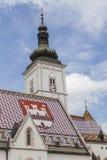 圣马克的教会,萨格勒布 免版税库存图片
