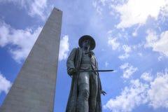 邦克山纪念碑在波士顿 免版税库存图片