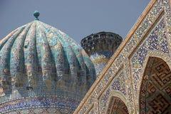 结构伊斯兰撒马而罕乌兹别克斯坦 库存照片