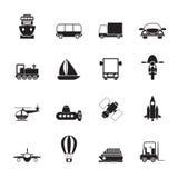 剪影运输、旅行和发货象 库存图片