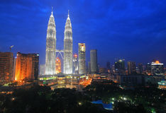 горизонт Куала Лумпур Малайзии Стоковая Фотография RF