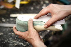 Утешьте и стиль, ботинки сделанные для того чтобы измерить Стоковые Изображения RF