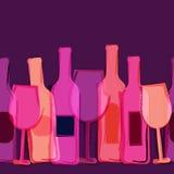 Предпосылка абстрактной акварели безшовная, красный цвет, пинк, фиолетовое вино Стоковые Изображения RF