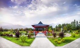 日本庭院在阿尔玛蒂 免版税库存照片
