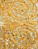 Παλαιό λουλούδι Ταϊλάνδη τοίχων στόκων Στοκ Φωτογραφίες