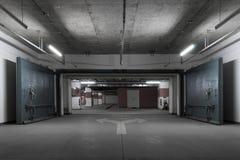 颜色对比地下作用停车 免版税库存图片