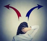企业混淆的妇女 免版税库存照片