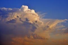 在日落的好的天空 库存照片