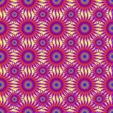 在一个轻的背景无缝的样式的明亮的紫色抽象星导航例证 图库摄影