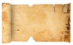老古色古香的纸卷纸 免版税库存图片