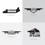 空中飞机商标 库存图片
