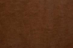 布朗作为背景的皮革纹理 免版税库存图片