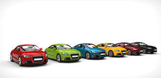 大范围颜色-汽车 库存图片