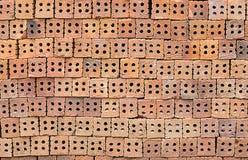 红色石纹理墙壁 免版税图库摄影