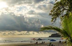 Пляж Манюэля Антонио тропический - Коста-Рика Стоковое фото RF