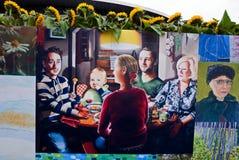Κολάζ της τέχνης ανεμιστήρων του Βαν Γκογκ Στοκ εικόνα με δικαίωμα ελεύθερης χρήσης