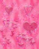 υγρό ροζ καρδιών Στοκ Φωτογραφίες