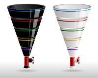 Творческие установленные воронки продаж Стоковые Изображения RF