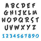 英语字母表难看的东西设计 免版税库存照片