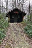 Располагаясь лагерем кабина Стоковая Фотография