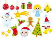 εικονίδια Χριστουγέννων Στοκ Εικόνες